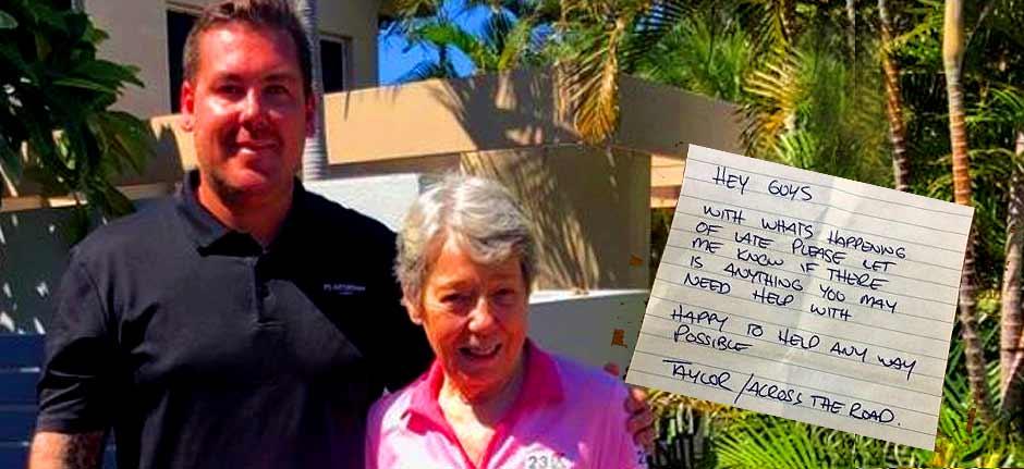 Australian neighbours spread good vibes amid virus crisis