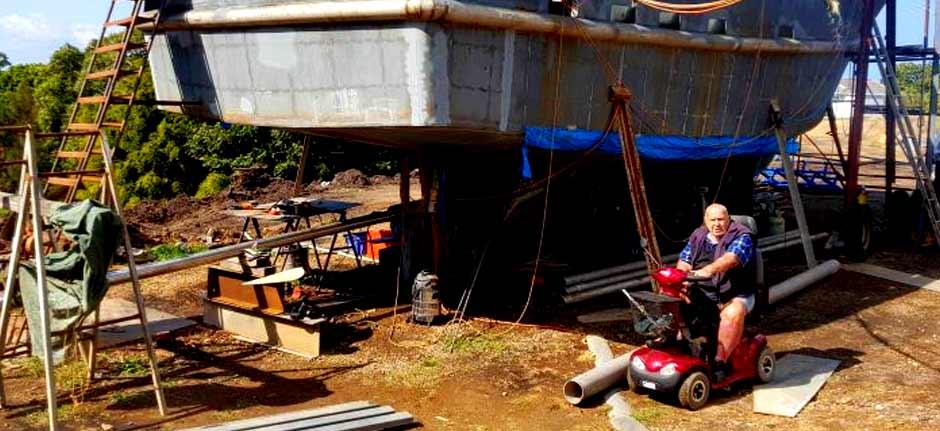 Raw Prawn? 90 Yr. Old Builds Trawler In Coffs Harbour