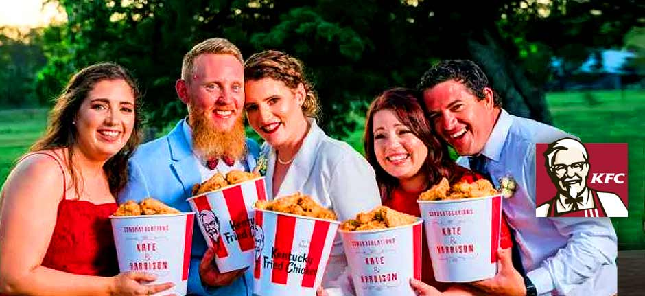 world's first official KFC themed wedding in Toowoomba