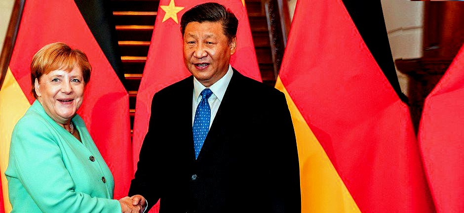 Chancellor Merkel meeting with President Xi Jinping in china