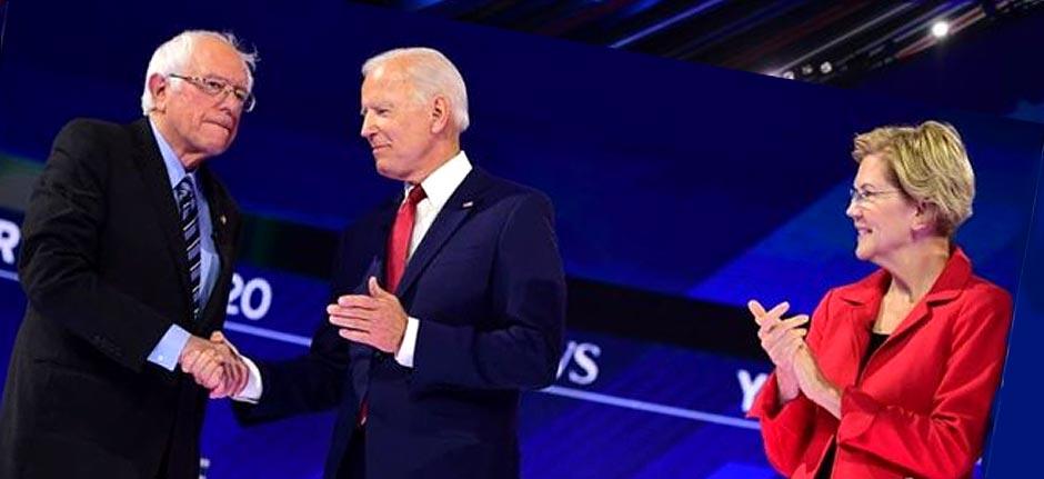 Show Time: Democrats Biden, Warren and Sanders Debate