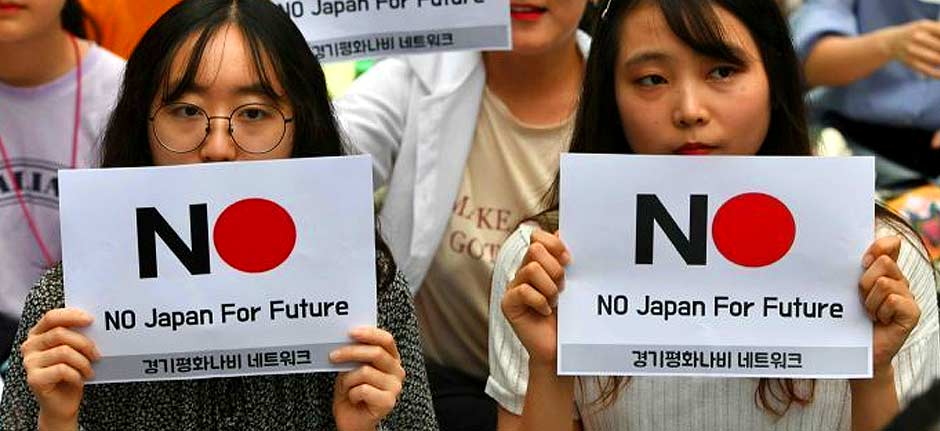 Japan and South Korea embroiled in a trade war