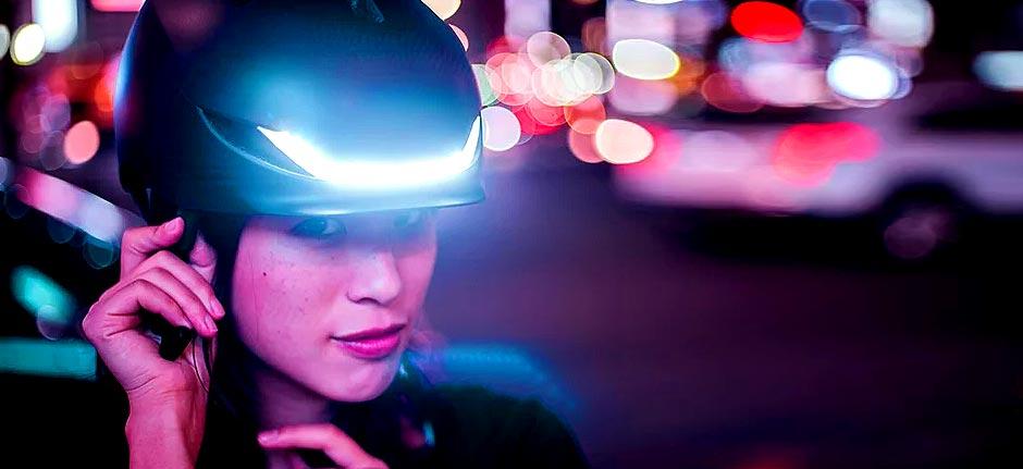 lumos helmet combines streamline design and lighting