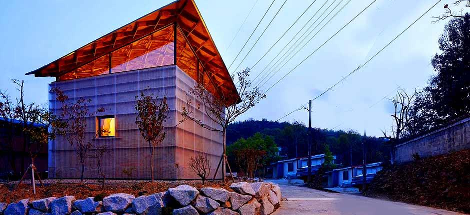 three trees house in south korea