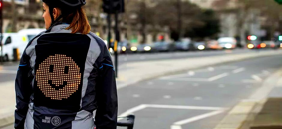 Ford creates 'emoji jacket' that lets cyclists share moods
