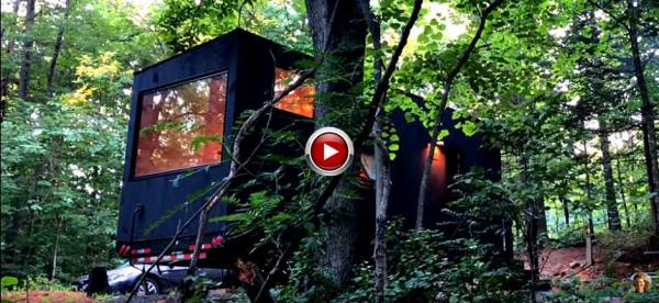 Cabins in woods to slow down & re-sync inner clock
