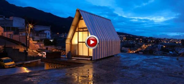 tiny 12 sqm dwelling built on roof in ecuador