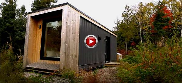 Shipping Container To Minimalist Micro Cabin